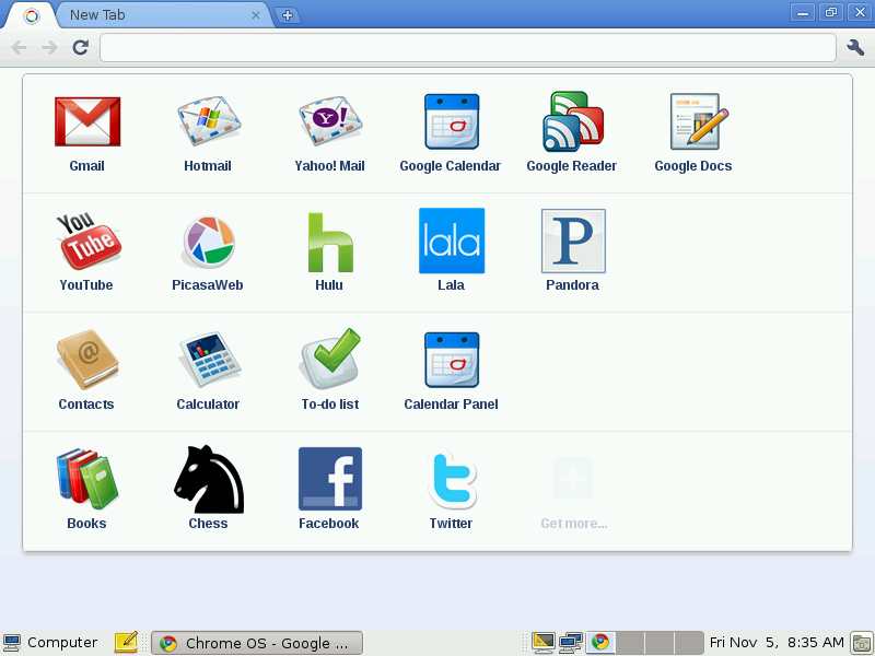 Chrome OS Home
