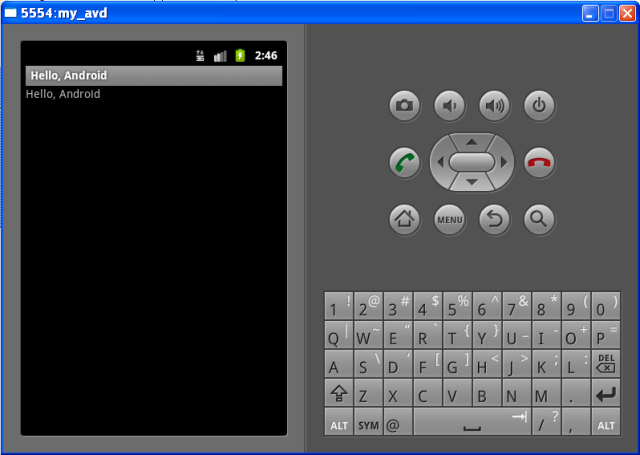 Android Emulator in Windows XP