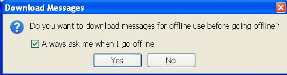 Offline Mode Email Download Thunderbird