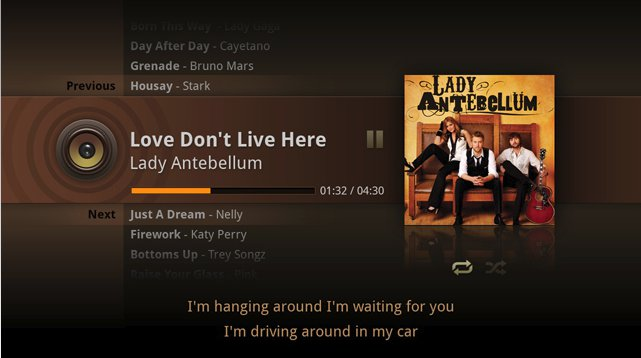 SMP8657 Android media player - music menu