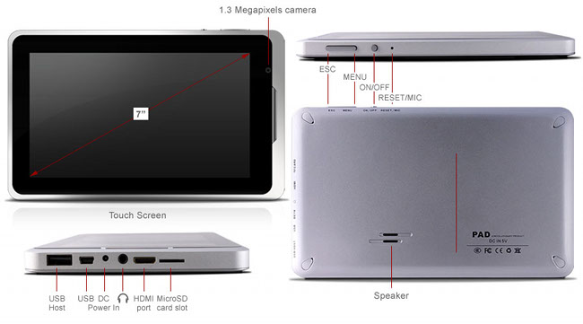 X10 Airpad Android Tablet