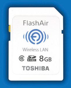 Toshiba SDHC Card (8GB) with embedded Wi-Fi