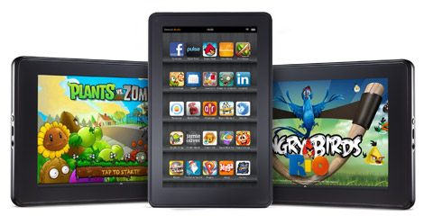 Plants vs Zombies, Angry Bird on Kindle Fire