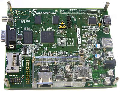Craneboard Devkit based on Texas Instruments AM3517