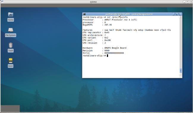 Qemu BeagleBoard ARM Linux Internet Platform