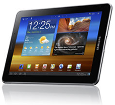 """Samsung Android Honeycomb 3.2v Tablet with 7.7"""" Super AMOLED Plus display"""