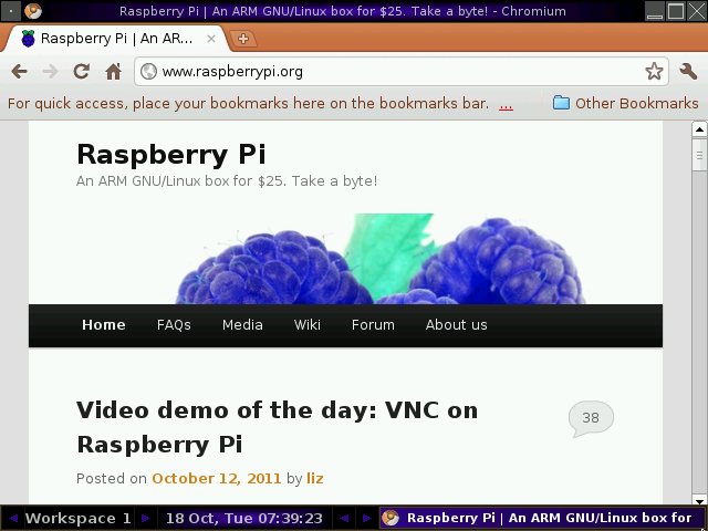 Rasperry PI Web Browser in Qemu