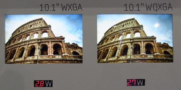WQXGA Tablet Display Power Consumption