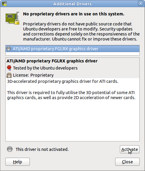 ATI/AMD proprietary FGLRX graphics driver
