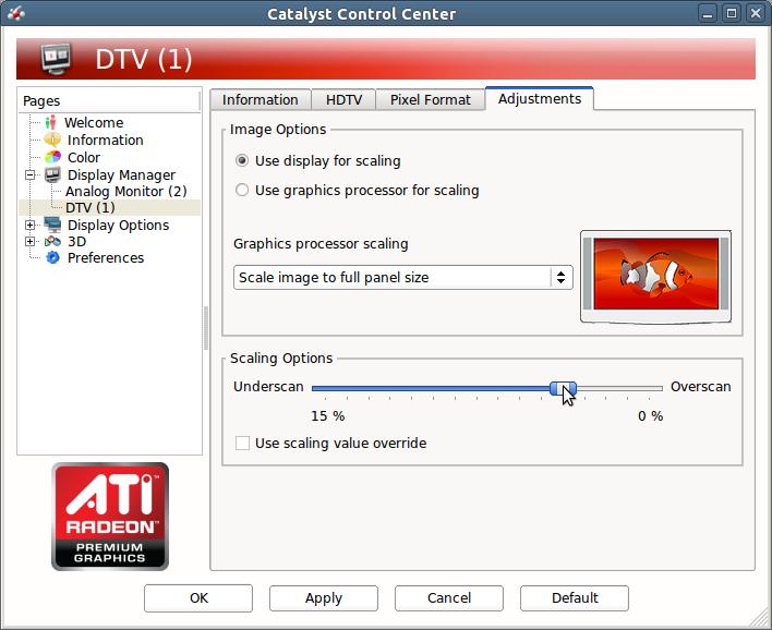 Adjustment Scaling Options ATI CCC