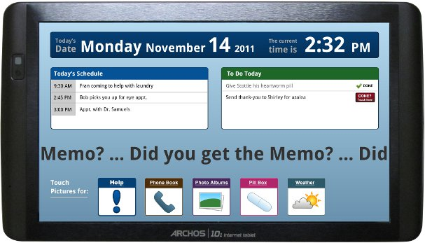 Screenshot of Memotouch Software