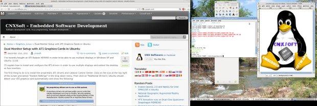 Extended Desktop on Ubuntu with ATI Radeon Graphics Card HDMI + VGA connection