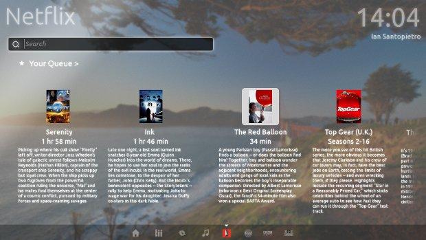 Ubuntu Television Netflix Plugin