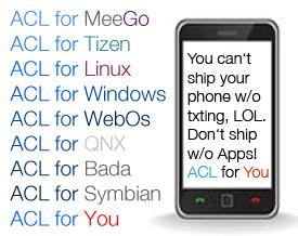 Android on Meego, Tizen, Linux, Windows, WebOS, QNX, Bada, Symbian
