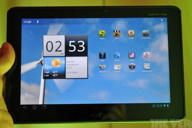 Acer Icon Tab Nvidia Tegra 3