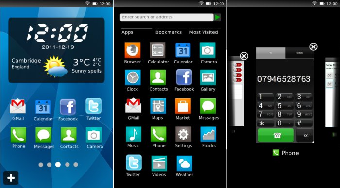 Mozilla Mobile Operating System User Interface