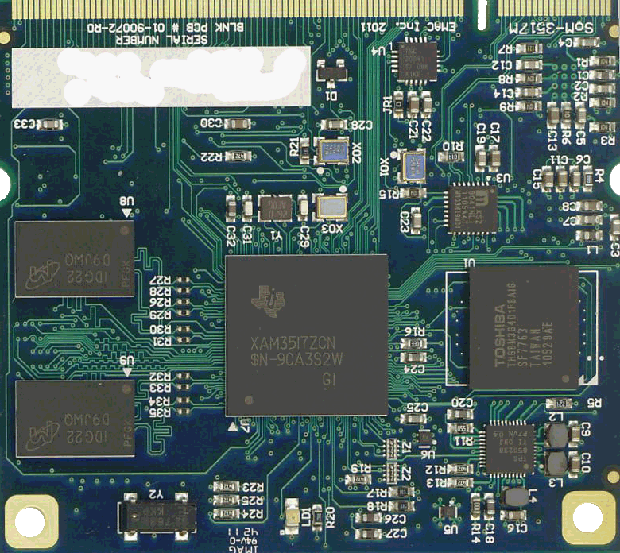 EMAC System-on-Module powered by TI Sitara AM3517 Cortex A8