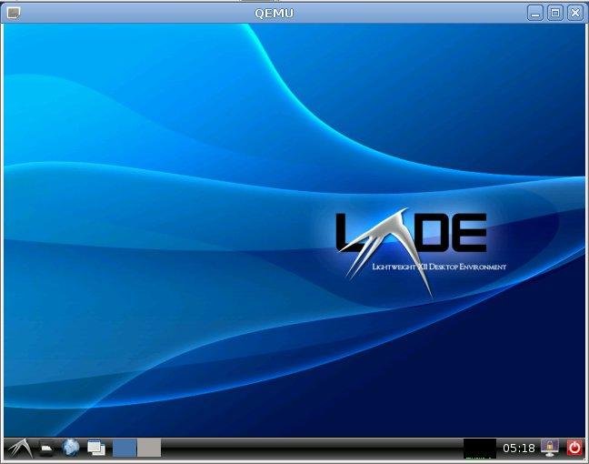 QEMU Runs Debian Squeeze LXDE Image