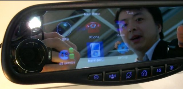 Rear-view mirror with an operating system