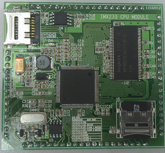 Low cost freescale i.mx233 development board