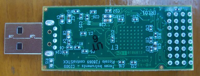 C2000 MCU devkit bottom PCB
