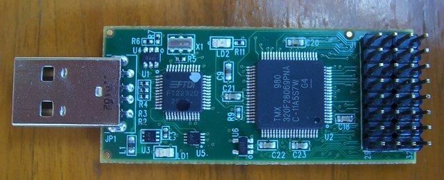 C2000 MCU devkit top PCB