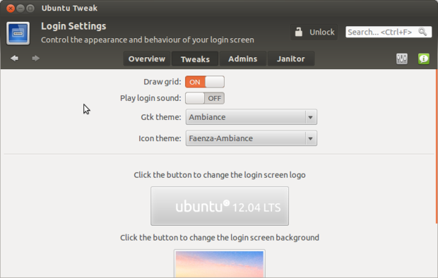 Customize Login Screen in Ubuntu 12.04