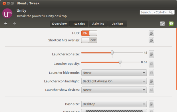 Ubuntu 12.04 Tweaks for HUD and Launcher