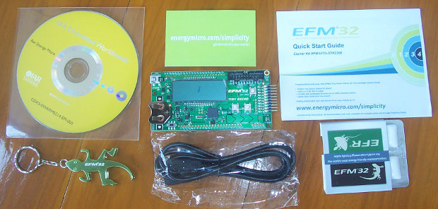 Content of EFM32-TG-STK3300 package