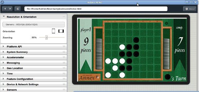 Tizen Web Based Simlautor