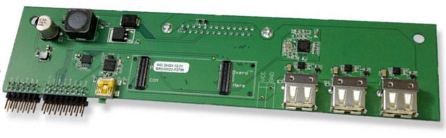 Baseboard for Overo COMs on iRobot Create