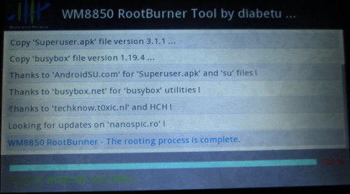 WM8850-MID Tablet Firmware Files and Root Instructions