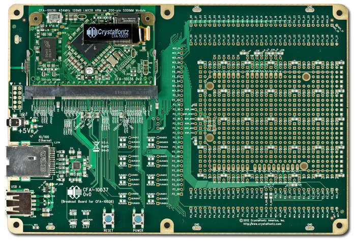CFA-10036 module Connected to CFA-10037 Motherboard