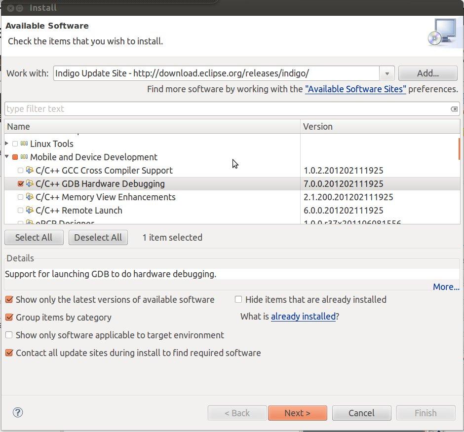 Eclipse GDB Hardware Debugging