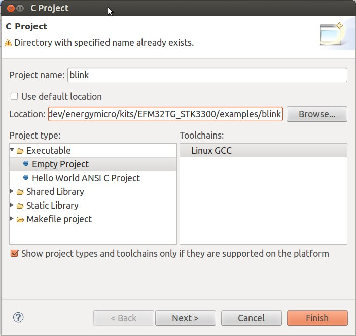 Energymicro_Eclipse_Blink_Project
