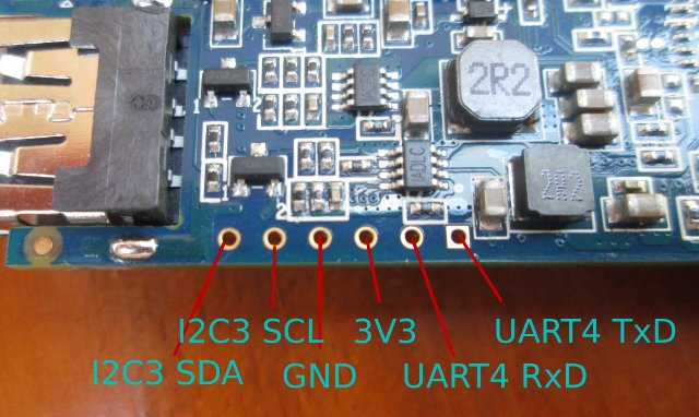 Hi802 Board Debug Header Pin Description