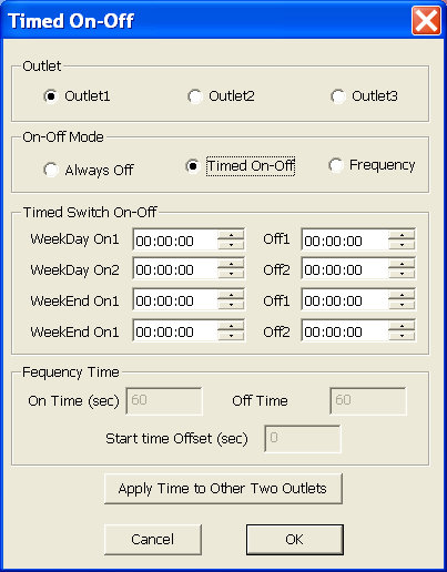 PowerUSB Timed On-Off