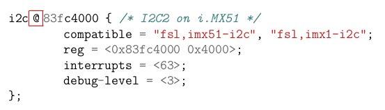 Device Tree for I2C on Freescale i.MX51