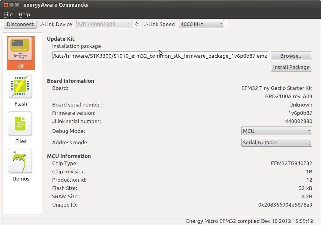 energyAware Commander in Ubuntu