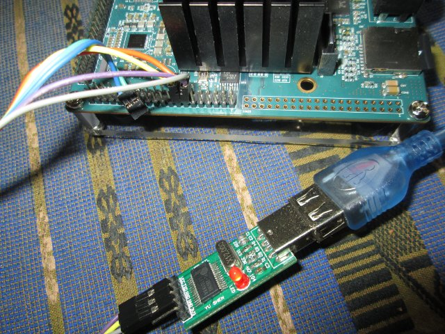 Standard USB  TTL Debug Board Connected to ARMBRIX Zero.
