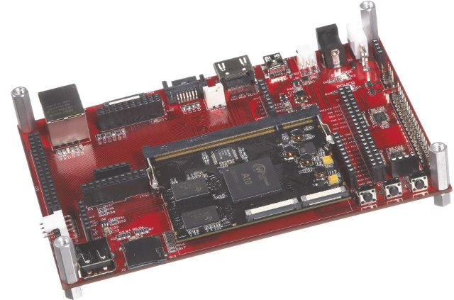AllWinner A10 CoM and Carrier Board (Click to Enlarge)