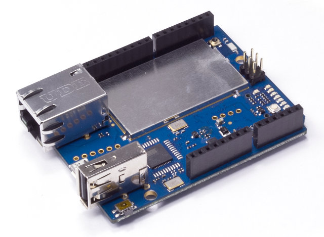 Linux powered arduino yún board is designed for the