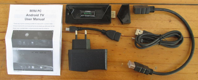 CS868 mini PC and its Accessories (Click to Enlarge)