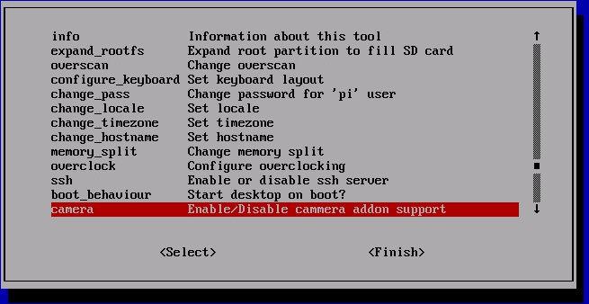 Raspberry Pi Camera Configuration
