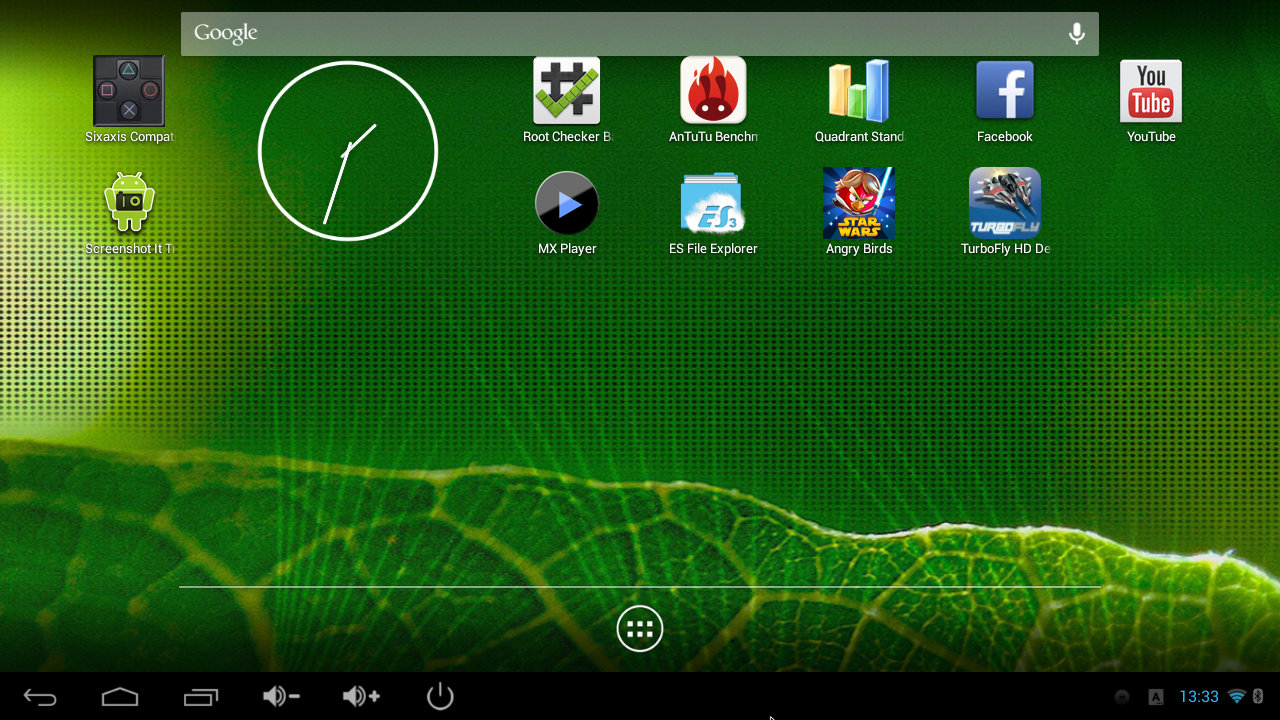 Home Screen (Click to Enlarge)