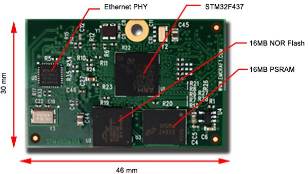 Emcraft Systems Stm32f4 Som And Starter Kit Run Uclinux