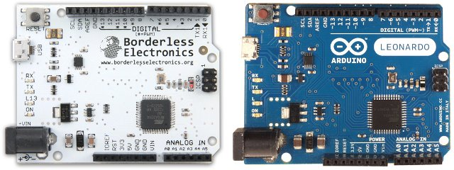 Borderless Electronics vs Arduino Leonardo