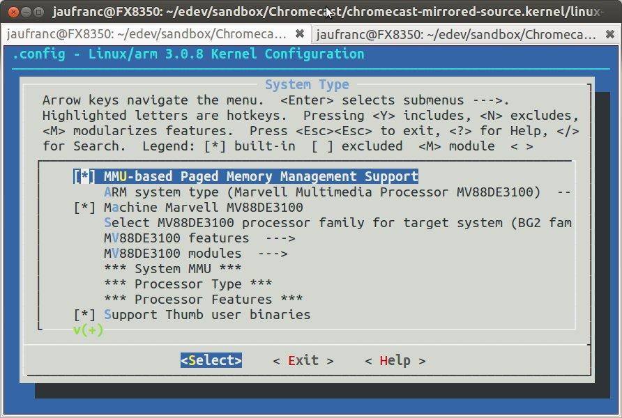 Chromecast_Menuconfig