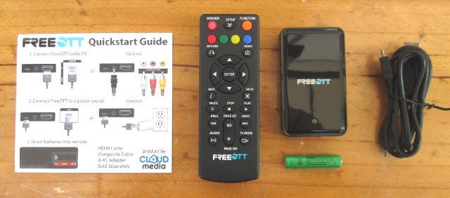 FreeOTT, Remote, Cable and User's Manual (Click to Enlarge)