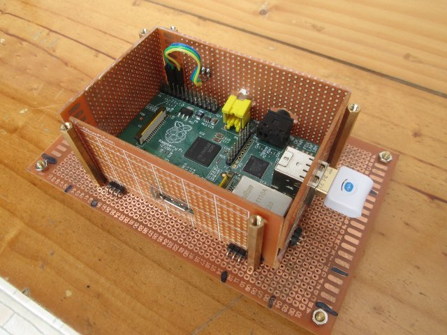 Raspberry Pi Modular Stripboard Enclosure with Top board (Click to Enlarge)